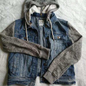 Billabong Distress Hoodie and Jeans Vest